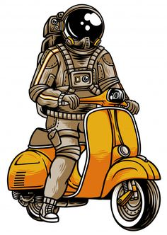 Discover thousands of Premium vectors available in AI and EPS formats Vespa Vector, Tattoos Anime, Bike Illustration, Astronaut Illustration, Arte Hip Hop, Cute Cartoon Pictures, Joker Art, Art Anime, Galaxy Wallpaper
