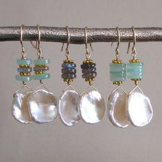 $52.50. Weekly Special  Keishi Pearl Drop Earrings by tangerinejewelryshop, $52.50