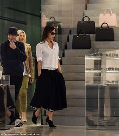 Fashion forward: The 40-year-old recently launched her flagship store on London's Dover St...