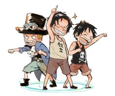 One Piece: Sabo, Ace, and Luffy