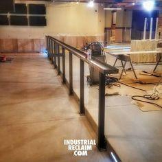 First of two 40 ft drink rails installed! IndustrialReclaim.com  #reclaimed #repurposed#industrialfurniture#modernfurniture #design #art #handmade #decor #vintage #vintageindustrial #industrial#artofchi #creative #steel #metal #metalwork #welding #industrialdesign #interiordesigner #interiordesign #modern #moderndesign #modernindustrial #chicago #Chicagoart #insta_chicago #chicagogram