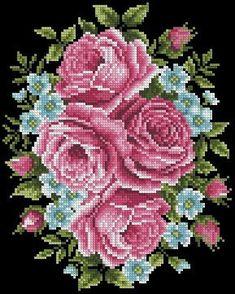 Cross Stitch Tree, Cross Stitch Flowers, Cross Stitch Charts, Cross Stitch Designs, Cross Stitch Patterns, Crewel Embroidery, Cross Stitch Embroidery, Black And White Flower Tattoo, Vintage Cross Stitches
