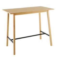 4 6 Seater Bar Dining Table W 120 Cm | Maisons Du Monde
