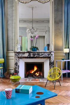 Casinha colorida: Eu quero morar nesta mansão na França