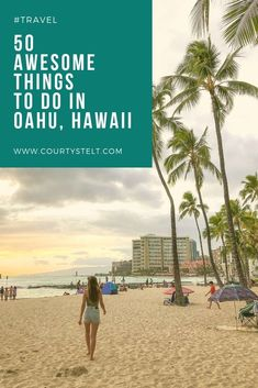 From hula lessons, drinking cocktails in the sky and running away from imaginary dinosaurs, here are 50 things to do in Oahu, Hawaii! Hawaii Travel, Solo Travel, Travel Usa, Beach Travel, Travel Tips, Beach Trip, Vacation Trips, Vacation Spots, Italy Vacation