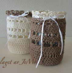 Heklet lyslykt  laget av JeMo Crochet tealightcover