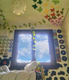 Cute Room Ideas, Cute Room Decor, Indie Room Decor, Hipster Bedroom Decor, Retro Room, Vintage Room, Room Ideas Bedroom, Bedroom Inspo, Bedroom Wall