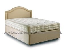 4ft6 Hypnos Ortho Deluxe Divan Bed - £1,259.95 - Features over 1100 ReActive No Need To Turn pocket springs in the 150cm size.  This outstanding hand crafted mattress contains deep upholstery fillings of pure cotton felt, layer of reflex foam and soft lambswool, with Non-allergenic white fibre and two rows of genuine hand side stitched borders to provide edge to edge comfort. The Mattress is traditionaly hand tufted and available also available as a mattress only (see mattress section)