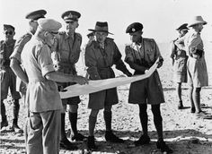 Lieutenant General Montgomery, the new commander of Army, discussing troop dispositions at Armoured Brigade headquarters, 20 August The brigade commander, Brigadier 'Pip' Roberts is on the right (in beret). Bernard Montgomery, Erwin Rommel, Home Guard, Lieutenant General, Safari, Military Veterans, D Day, British Army, North Africa