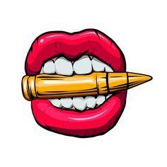 Graffiti Art Drawings, Graffiti Alphabet Styles, Graffiti Designs, Graffiti Characters, Graffiti Lettering, Pop Art Lips, Lips Painting, Trill Art, Harley Quinn Drawing