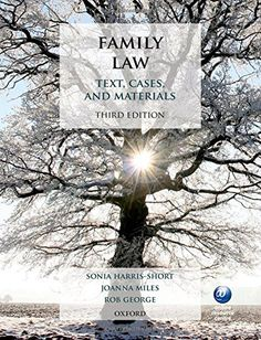 Family Law: Text, Cases, and Materials/ Sonia Harris-Short, Joanna Miles, Rob George- Main Library 346.043 SMI