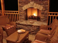 15 outdoor fireplaces we love covered decks stone fireplaces