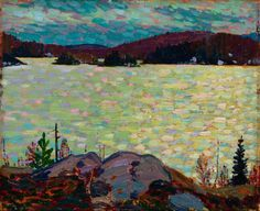 Islands, Canoe Lake - Tom Thomson , 1916 Canadian Oil on Wood x cm Emily Carr, Group Of Seven Paintings, Paintings I Love, Canadian Painters, Canadian Artists, Landscape Art, Landscape Paintings, Landscapes, Impressionist Landscape