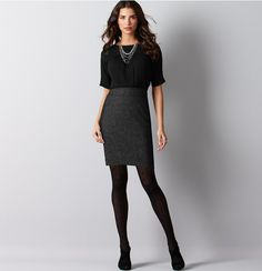Herringbone Combo Dress | Loft