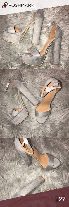 Gray High Heels These gray Bebo shoes have never been worn! I bought the wrong size - never even tried on! Shoes Heels