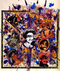 Jamie Reid and the Punk Rebellion - Retroavangarda Art Punk, Punk Rock, Les Aliens, Middle Eastern Art, Fashion Portfolio, Poster On, Album Covers, Printmaking, Drawings