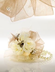 """""""Day at the Beach"""" Diy Ribbon, Ribbon Crafts, Flower Crafts, Diy Crafts, Prom Corsage And Boutonniere, Rose Corsage, Boutonnieres, Prom Flowers, Wedding Flowers"""