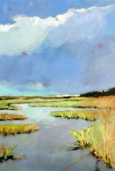 Peaceful Marsh by Mary Pratt Country Art, Low Country, Original Paintings, Original Art, Landscape Paintings, Abstract Landscape, Art For Sale Online, Acrylic Painting Techniques, Water Art