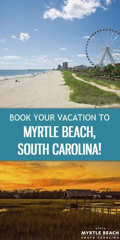 Book Your Next Beach Vacation to Beautiful Myrtle Beach, South Carolina!  With 60 Miles of Beaches along the Grand Strand, You'll have Plenty of Options for Your Getaway.