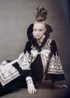 "deseased: "" ""like a painting"", natalia vodianova for vogue italia 2006 """