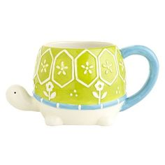 Turtle Mug from Pier 1 imports. Shop more products from Pier 1 imports on Wanelo. Funny Coffee Mugs, Funny Mugs, Vintage Egg Cups, Turtle Time, Animal Mugs, Tortoises, Cute Mugs, Coffee Cups, Arts And Crafts