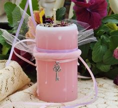 The Faeries Key ~ Enchanted Witchery Candle 2x3 Pillar
