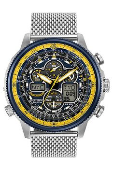 Citizen Citizen Eco-Drive Blue Angels Navihawk A-T JY8031-56L Atomic Timekeeping