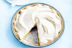 Coconut and Passionfruit Cream Pie / Photo by Will Meppem Dessert Sauces, Pie Dessert, Desserts, Self Saucing Pudding, Pie In The Sky, Cream Pie Recipes, Cake Fillings, Sweet Pie, Food Menu