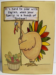 SOLD~ Thanksgiving card with humor