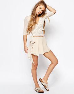 Free People Movement Ballerina Wrap Skirt in Crinkle Chiffon