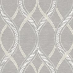 "Symetrie Frequency Ogee 33' x 20.5"" Geometric Wallpaper   Wayfair"