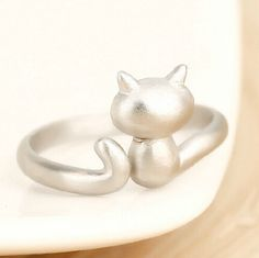 Cute Cat 925 Sterling Silver Rings For Women Lovely Kittens Open Ring Matte Sterling Silver Jewelry Bague Femme  Only $3.72 => Save up to 60% and Free Shipping => Order Now!  #Earrings #Rings #Handmade #Silver Jewelry #Pandora Bracelets #Nature Stone Jewelry #Jewelry #Necklaces #Bracelets