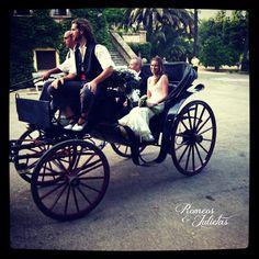 Coche de caballos boda J Bodas Romeos y Julietas Wedding Planner