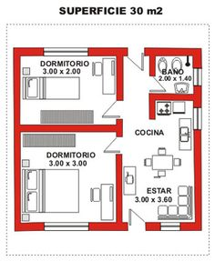 Viviendas Mi Cassa 3d House Plans, Small House Plans, Small Apartments, Rental Apartments, Apartment Floor Plans, Home Design Plans, House Layouts, Simple House, Apartment Design