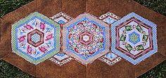 stack and whack table runner   Hexagon Kaleidoscope Table Runner Pattern