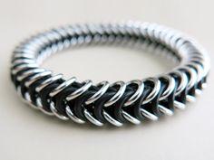 Mens Chainmaille Bracelet - Mens Stretch Bracelet ~ ALYCEN MAILLE
