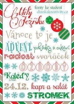 Dianka Kreativity: FONTY KE STAŽENÍ: Nejhezčí vánoční fonty