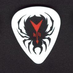 KIRK HAMMETT Guitar Pick Metallica SPIDER pick with red Flying V guitar 2010
