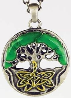 Celtic Tree of Life #necklaces Made of lacquered pewter, this lovely #pendant is #beautifully displays the #Celtic #TreeofLife; a beautiful #symbol of the #union of #Heaven and #Earth. Has chain. 1 1/4""