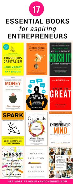 The 17 Business Books For Aspiring Entrepeneurs