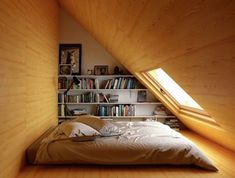 The Do's and Don'ts of Attic Rooms Low Ceiling Bedroom Designs In the current era, designing a bedroom has become rather a favorite profession. If there are several bedrooms in your house, then one of your bedrooms is going to… Continue Reading → Slanted Ceiling Bedroom, Attic Bedroom Decor, Attic Bedroom Designs, Attic Design, Bedroom Loft, Bedroom Ideas, Diy Bedroom, Interior Design, Interior Architecture