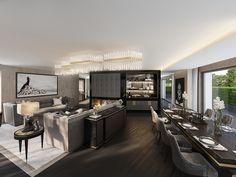 Wenn Jeannet den Auftrag erhält, ein einzigartiges Penthouse zu designen, dann wird zuerst mal der ganze Grundriss analysiert, um das Maximum aus der bestehenden Fläche herauszuholen. So auch in einer der Gemeinden am rechten Zürichsee-Ufer, wo Jeannet für einen finanzkräftigen ausländischen Bauherrn ein grosszügiges Duplex-Penthouse designt.