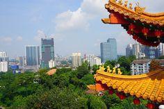 Kuala Lumpur Skyline vom Thean Hou Tempel