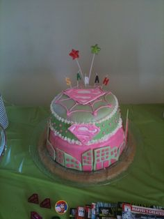 Superheroes Cake for a girl
