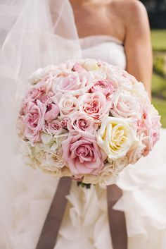 #bouquet, #rose Photography: SMS Photography - smsphotography.com Read More: http://www.stylemepretty.com/texas-weddings/austin/2013/12/11/traditional-austin-wedding/