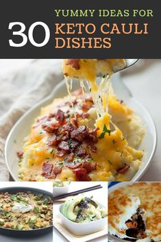 30 Amazing Low Carb and Keto Recipes using Cauliflower [Snacks & Meals] Banting Recipes, Low Carb Recipes, Healthy Recipes, Recipe Using Cauliflower, Cauliflower Recipes, Ketogenic Cookbook, Ketogenic Diet, Low Carb Vegetables, Healthy Food Options