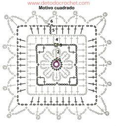 patron de cuadro crochet para tejer chaleco