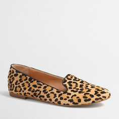 Factory leopard calf hair Cora loafers : Loafers | J.Crew Factory