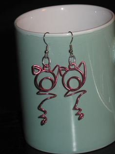 Wire Wrapped Pig Earrings by 1ofAkinds on Etsy, $8.00