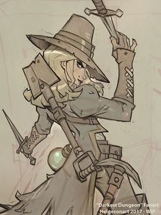 Fanart of the Grave Robber from the fantastic game Darkest Dungeon!